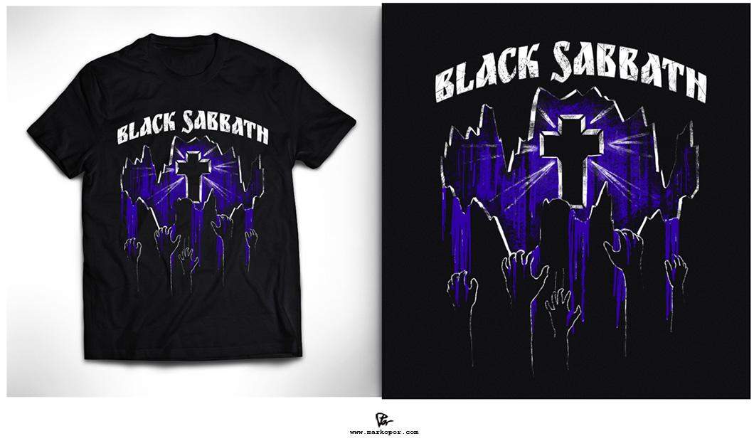 Black Sabbath Loner T-Shirt by Marko Por