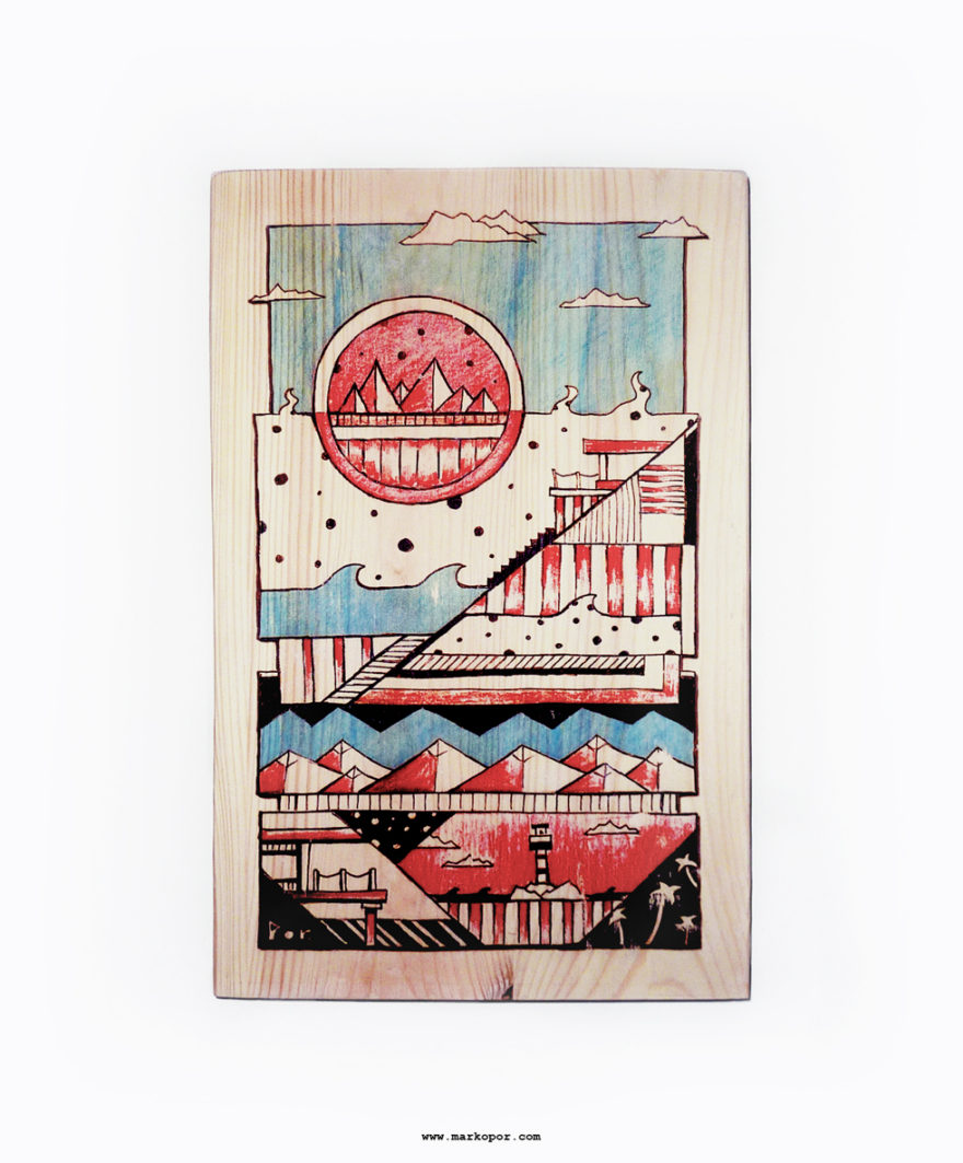 Goodlife / Wood Print by Marko Por