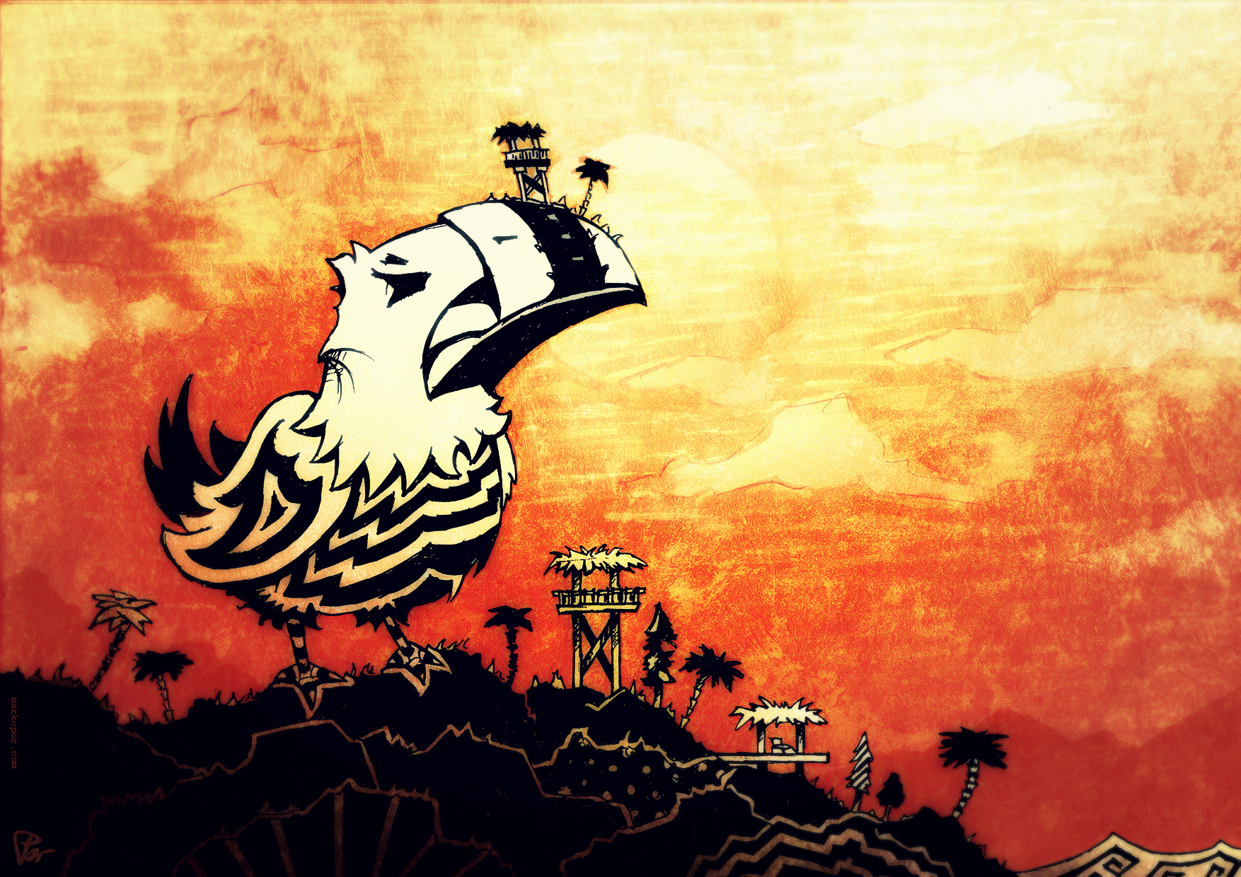 Bali Birdie by Marko Por